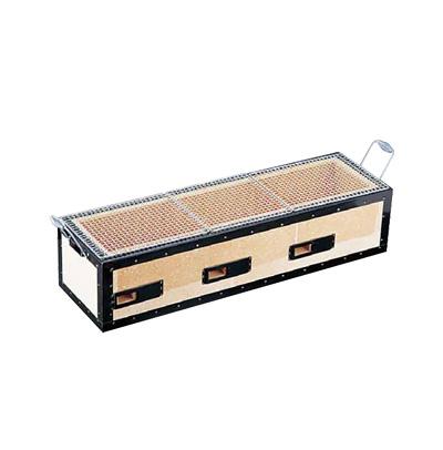 炭火バーベキューコンロ BQ8T号 焼鳥用(6~12人用) 770×230×H200mm( キッチンブランチ )