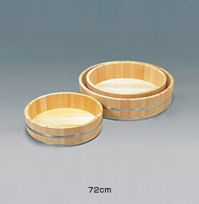 木製ステン箍 飯台 (サワラ材) 72cm <72cm>( キッチンブランチ )