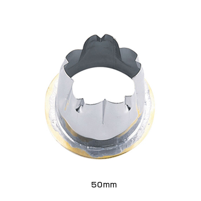 18-8 穴クリ芯抜型 外仕上げ用 桜 50mm用 <50mm用>( キッチンブランチ )