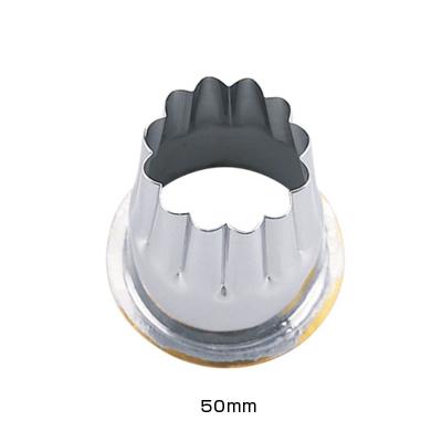 18-8 穴クリ芯抜型 外仕上げ用 菊 50mm用 <50mm用>( キッチンブランチ )