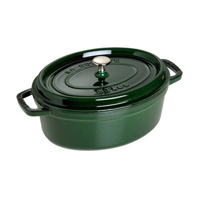 ストウブ ピコ・ココット オーバル 33cm <バジルグリーン>( キッチンブランチ )