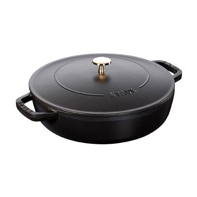 ストウブ ブレイザー・ソテーパン 24cm 40511-473 <ブラック>( キッチンブランチ )