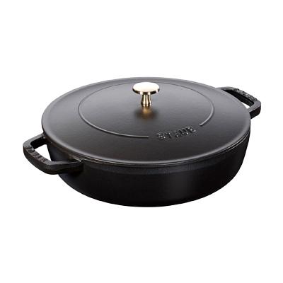ストウブ ブレイザー・ソテーパン 28cm 40511-472 <ブラック>( キッチンブランチ )