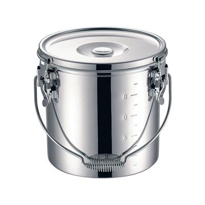 KO 19-0 電磁調理器対応 スタッキング給食缶 24cm ( キッチンブランチ )