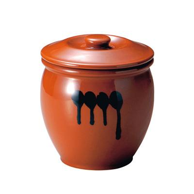陶器 蓋付半胴かめ 8号 14.4L( キッチンブランチ )