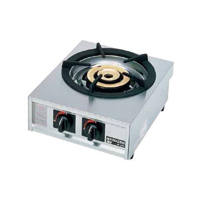 ガステーブルコンロ親子(自動点火) 一口コンロ M-211C 13A 350×420×H192mm( キッチンブランチ )