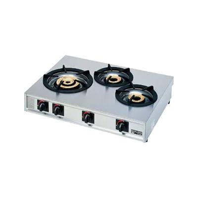 ガステーブルコンロ親子(自動点火) 三口コンロ M-213C LPガス 770×570×H192mm( キッチンブランチ )