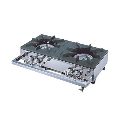 ガステーブルコンロ用 兼用レンジ S-2220 (2連、2重、受皿付き) 12・13A 700×450×H158mm( キッチンブランチ )