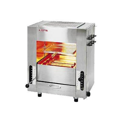ガス 赤外線 同時両面焼グリラー 「武蔵」 (小型)SGR-45 LPガス( キッチンブランチ )