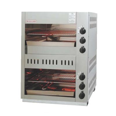 ガス 赤外線 上火式グリラーダブルタイプ グリルクインS AS-66EX LPガス( キッチンブランチ )