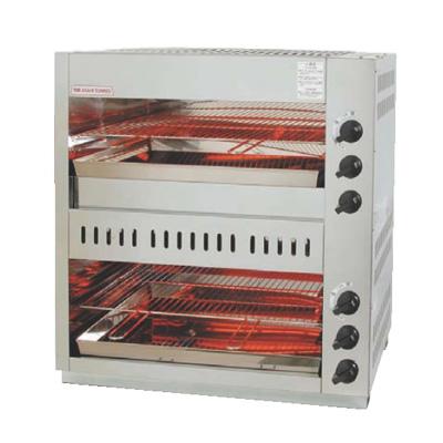 ガス 赤外線 上火式グリラーダブルタイプ グリルクインS AS-88EX LPガス( キッチンブランチ )