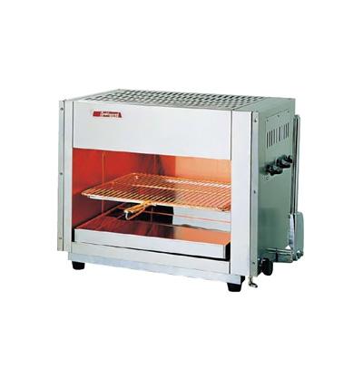 アサヒ上火式グリラー SG-650H (ハンドル式) LPガス 710×430×H515mm( キッチンブランチ )