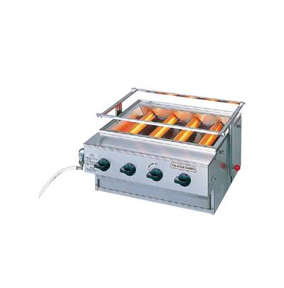 アサヒ ニュー黒潮 4号(バーナー 4本タイプ) SG-N20 LPガス 550×533×H450mm( キッチンブランチ )