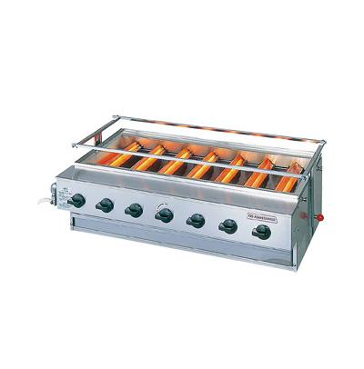 アサヒ ニュー黒潮 7号(バーナー 7本タイプ) SG-N22 LPガス 880×533×H450mm( キッチンブランチ )