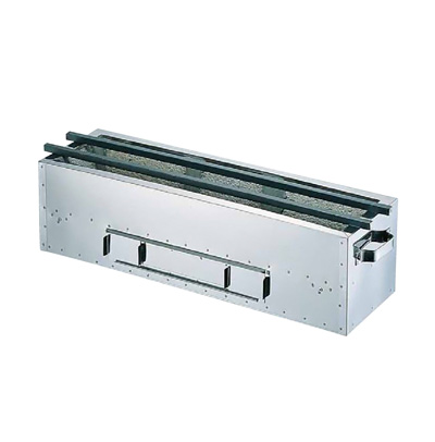 木炭用コンロ (抗火石貼り) 900×210×H165mm( キッチンブランチ )