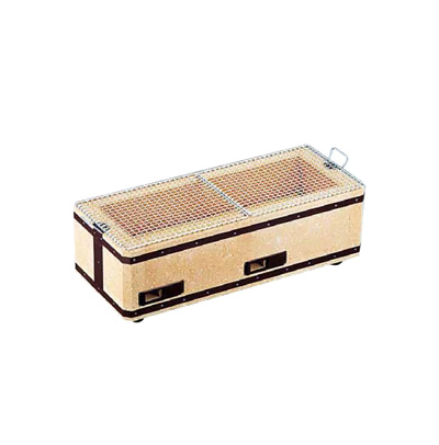 炭火バーベキューコンロ BQ8WF号 (4~8人用) 540×230×H200mm( キッチンブランチ )