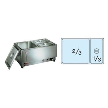 電気フードウォーマー 1/1ヨコ型 KU-107Y 570×365×H270mm( キッチンブランチ )