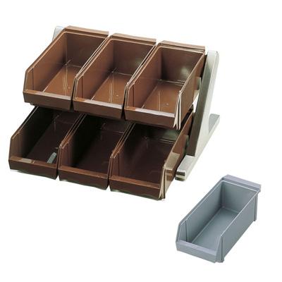 SA 18-8 デラックス オーガナイザー 2段3列(6ヶ入) 430×440×230mm <グレー>( キッチンブランチ )