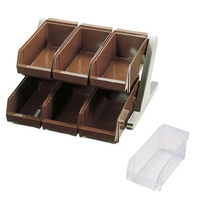 SA 18-8 デラックス オーガナイザー 2段3列(6ヶ入) 430×440×230mm <ホワイト>( キッチンブランチ )