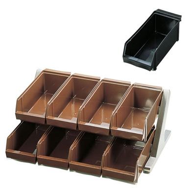 SA 18-8 デラックス オーガナイザー 2段4列(8ヶ入) 550×440×230mm <ブラック>( キッチンブランチ )