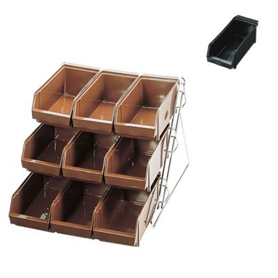 SA スタンダード オーガナイザー 3段3列(9ヶ入) 405×550×360mm <ブラック>( キッチンブランチ )