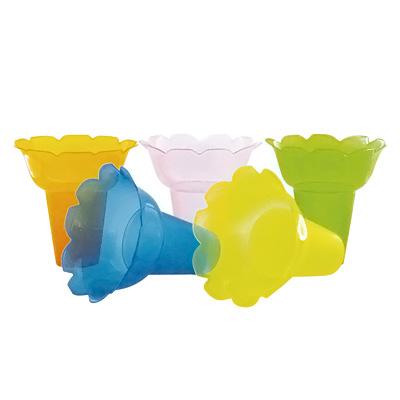 PP フラワー氷カップ 5色アソート (500ヶ入)φ130×45×H130mm( キッチンブランチ )