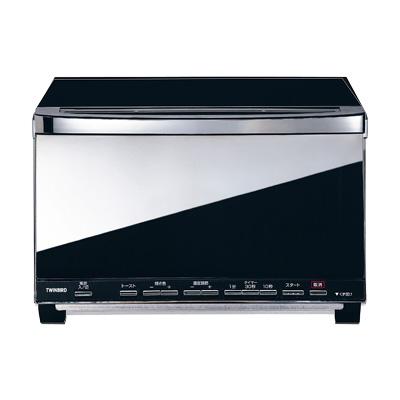 ミラーガラス オーブントースター TS-D057B 340×340×H225mm( キッチンブランチ )