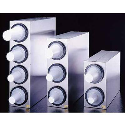 18-8 カップディスペンサー 2Pcs C2802 206×625×H410mm( キッチンブランチ )