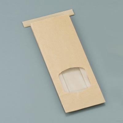 クラフト窓付きティンタイ袋(ワイヤー付) S(500枚入)( キッチンブランチ )
