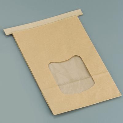 クラフト窓付きティンタイ袋(ワイヤー付) L(400枚入)( キッチンブランチ )