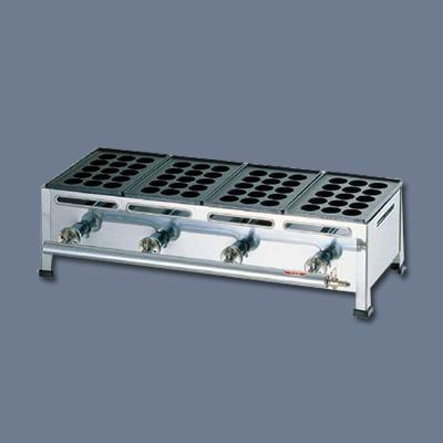 関西式たこ焼器(15穴) 4枚掛 LPガス 690×260×H180mm( キッチンブランチ )