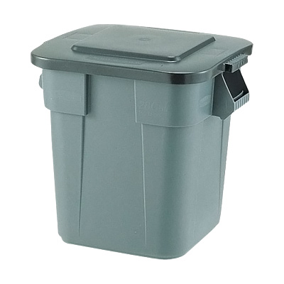 スクエア・ブルートコンテナ No.3526 546×546×H572mm <グレー>( キッチンブランチ ) [フタ別売り] ごみばこ ごみ箱
