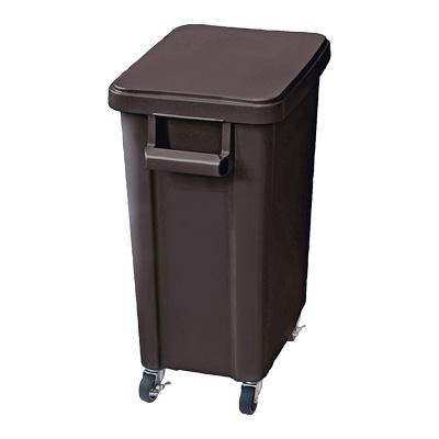 リス 厨房用キャスターペール (蓋・排水栓付) 70型 570×350×H695mm <ダークグレー>( キッチンブランチ )