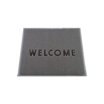 3M 文字入マット WELCOME 900×750mm <グレー>( キッチンブランチ )