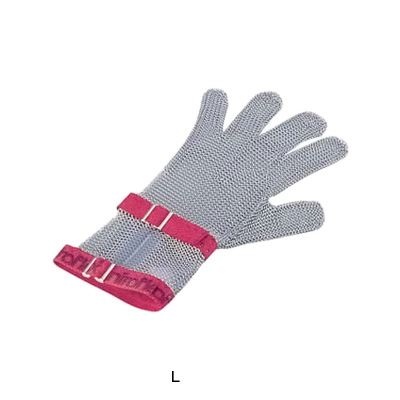ニロフレックス ショートカフ付 メッシュ手袋 5本指(片手)(ナイロン繊維ベルト) L C-L5( キッチンブランチ )