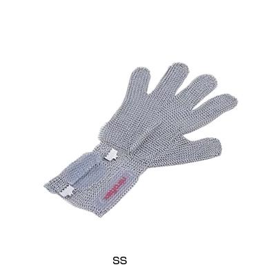 ニロフレックス 2000 ショートカフ付 メッシュ手袋 5本指(片手)(オールステンレス) C-SS5-NV( キッチンブランチ )