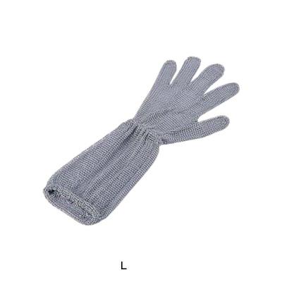ロングカフ付 メッシュ手袋 5本指(片手)(オールステンレス) L LC-L5-MBO(3)( キッチンブランチ )