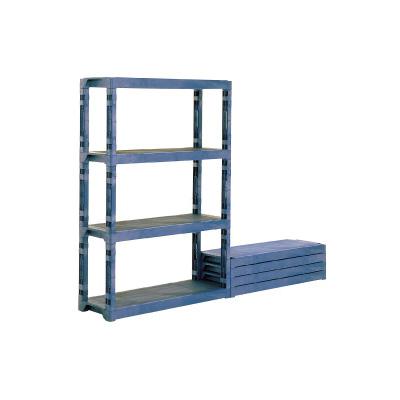 サンコー プラスチック棚 L (ポリプロピレン) 1200×450×H1796mm( キッチンブランチ )