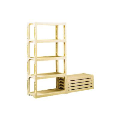 サンコー プラスチック棚 N (ポリプロピレン) 900×450×H1820mm( キッチンブランチ )