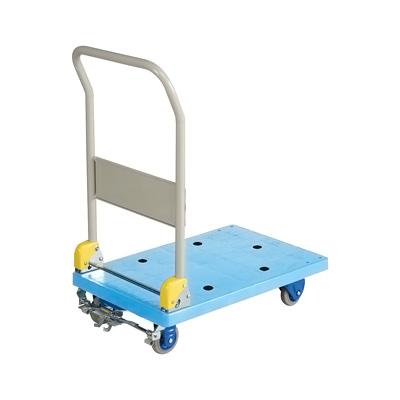 環境静音樹脂台車 (フットブレーキ付) NP-106GS 710×455×H880mm( キッチンブランチ )
