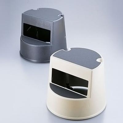 ラバーメイド ステップ・スツール(丸型) No.2523 φ405×H345mm <ベージュ>( キッチンブランチ )