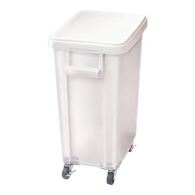 リス 厨房用キャスターペール (蓋・排水栓付) 70型 570×350×H695mm <ナチュラル>( キッチンブランチ )