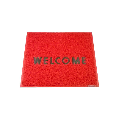 3M 文字入マット WELCOME 900×750mm <赤>( キッチンブランチ )