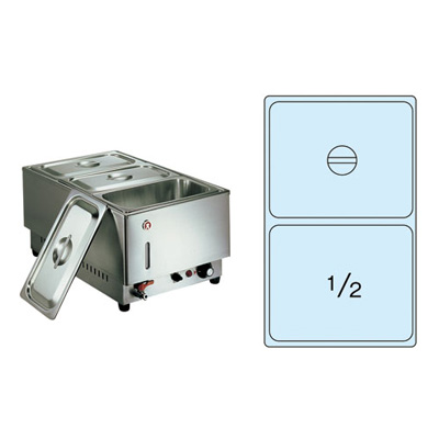 電気フードウォーマー 1/1タテ型 KU-202T 365×570×H270mm( キッチンブランチ )