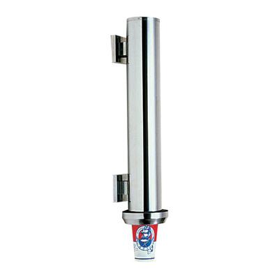 18-0 カップディスペンサー 木ネジ式 09043 φ140×H510mm( キッチンブランチ )