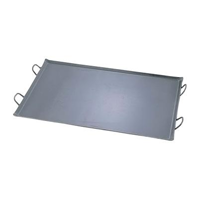 鉄 極厚プレス式 バーベキュー鉄板 大 800×600×21mm( キッチンブランチ )