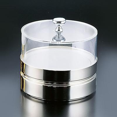 フレリック フレッシュディッシュ (切込付蓋) BFC-015EN φ185×177mm <シルバー>( キッチンブランチ )