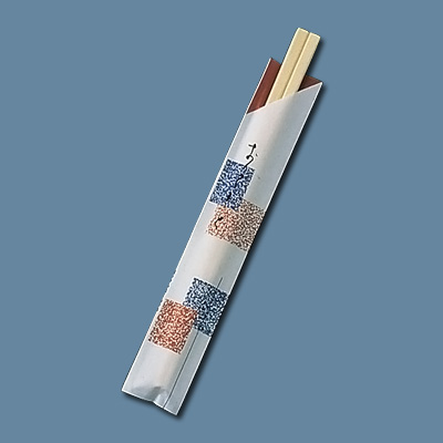 割箸袋入 元禄吹き寄せ アスペン元禄 20.5cm (1ケース100膳×40入) 全長205mm( キッチンブランチ )