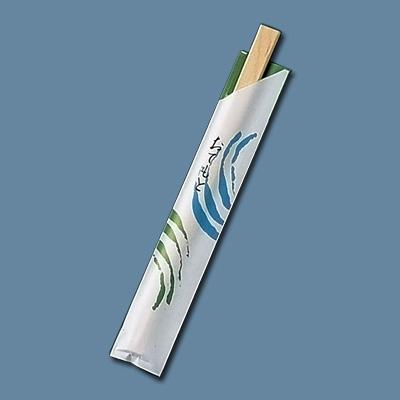 割箸袋入 細波 白樺小判 20.5cm (1ケース100膳×40入) 全長205mm( キッチンブランチ )