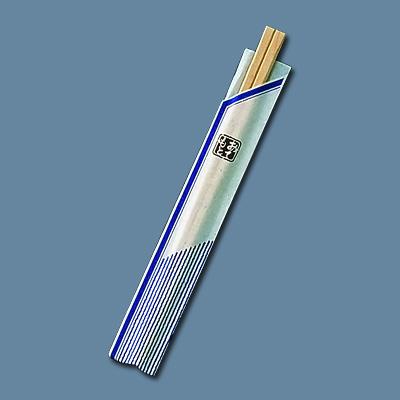 割箸袋入 ピース紺 白樺元禄 20.5cm (1ケース100膳×40入) 全長205mm( キッチンブランチ )